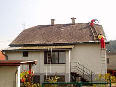 Oprava eternitovej strechy bez demontáže cena